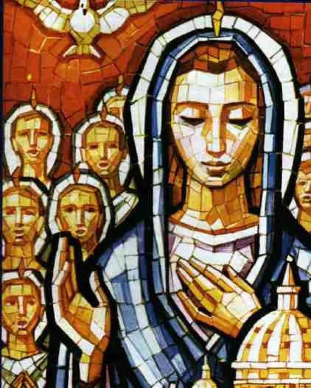 pentecostes - nossa senhora e os apóstolos