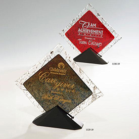 Diamond Fusion Ruby Art Glass Award