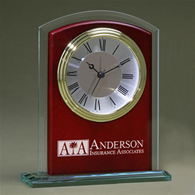 Glass Arch Clock