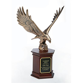 Majestic Eagle on Mahogany Base