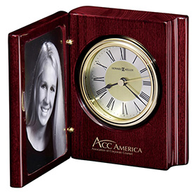 Portrait Book Desk Clock