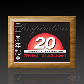 Bamboo Plaque with Sublimated Plate