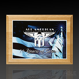 Alder Wood Plaque with Sublimated Plate
