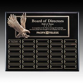 Flying Eagle Black Perpetual Plaque - 30 Plates