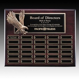 Flying Eagle Rosewood Perpetual Plaque - 30 Plates