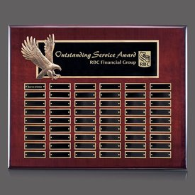 Flying Eagle Rosewood Perpetual Plaque - 54 Plates