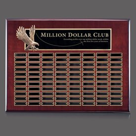 Flying Eagle Rosewood Perpetual Plaque - 88 Plates