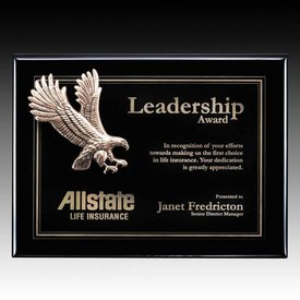 Flying Eagle Ebony Plaque - Small Eagle