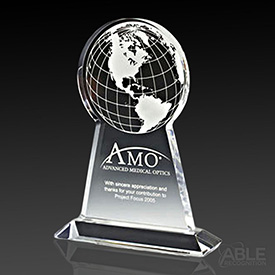 Acrylic Tall Globe Award