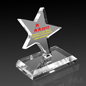 Acrylic Dancing Star Award