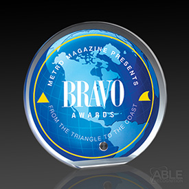 Acrylic Globe Graphic Award
