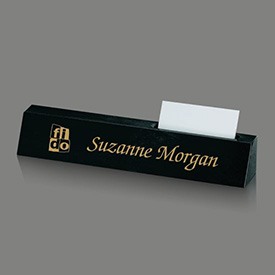 Marble Nameplate with Card Holder