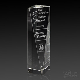 Sheared Tower Crystal Award