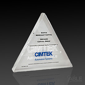 Triangular Tombstone Award
