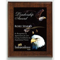 Aberdeen Walnut Plaque with Sublimated Plate