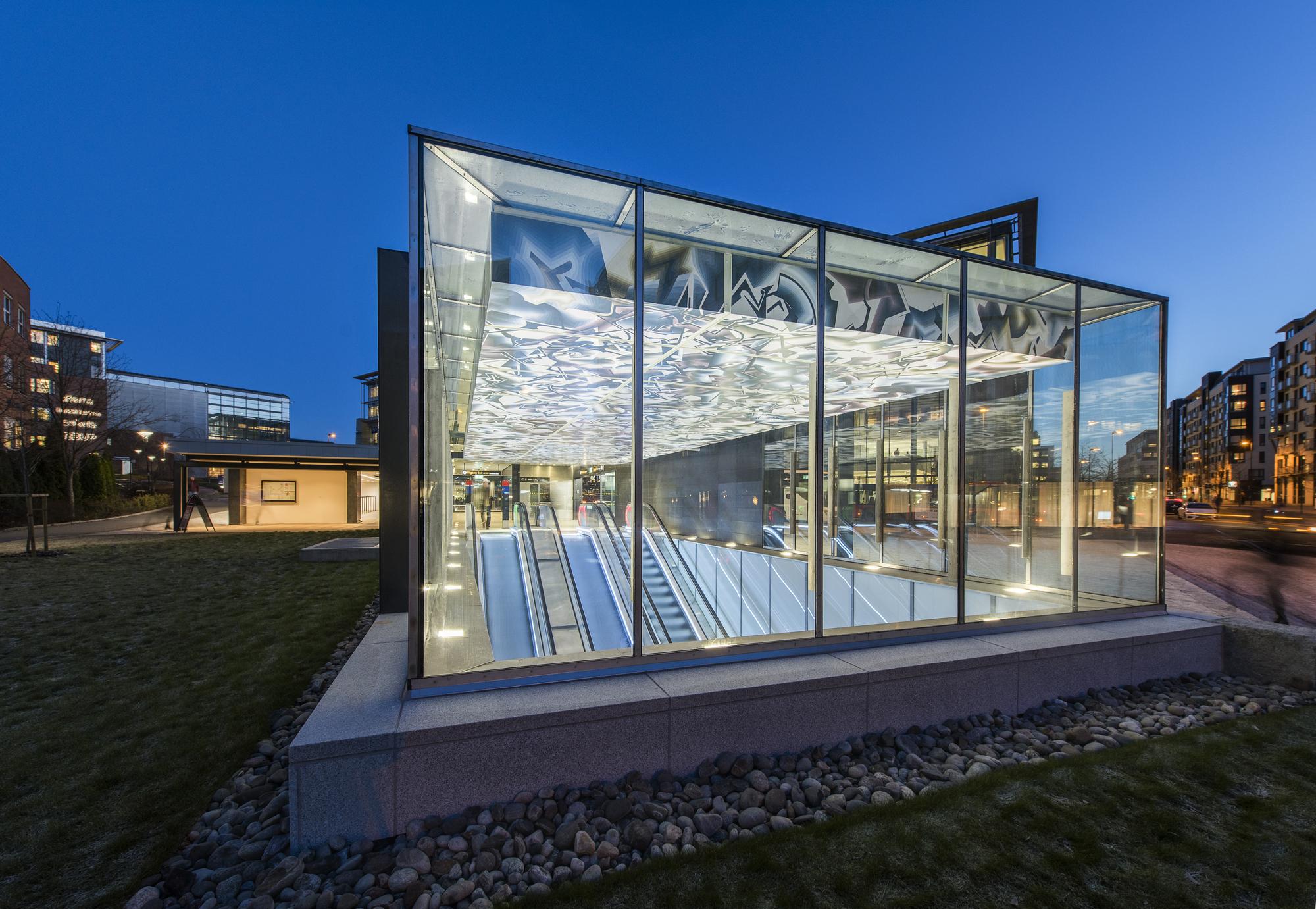Nydalen metro station extension kristin jarmund for Arkitekt design home
