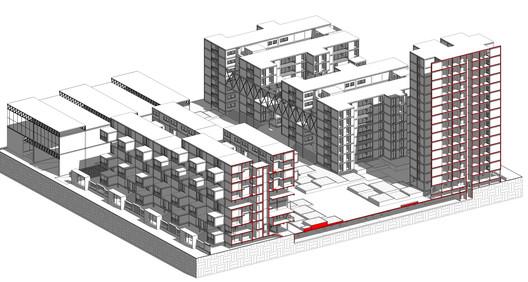 Espacios transformables en conjuntos residenciales. Image © Marco Febre