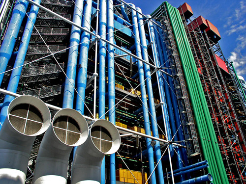 Centre Georges Pompidou. Image © <a href='https://www.flickr.com/photos/ainet/884301553'>Flickr user Alfie Ianni</a> licensed under <a href='https://creativecommons.org/licenses/by/2.0/'>CC BY 2.0</a>
