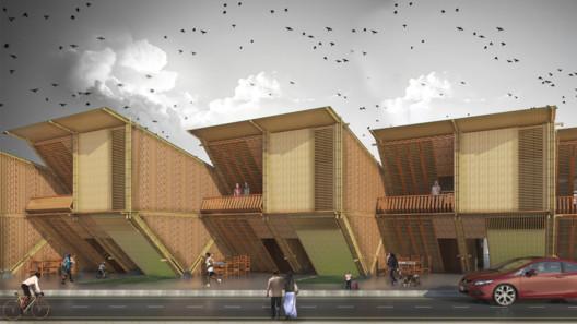 Prototipo de vivienda de conjunto habitacional y de vivienda progresiva de interés social para Manabí y Esmeraldas. Image © Accel Alexis Apolo Andino