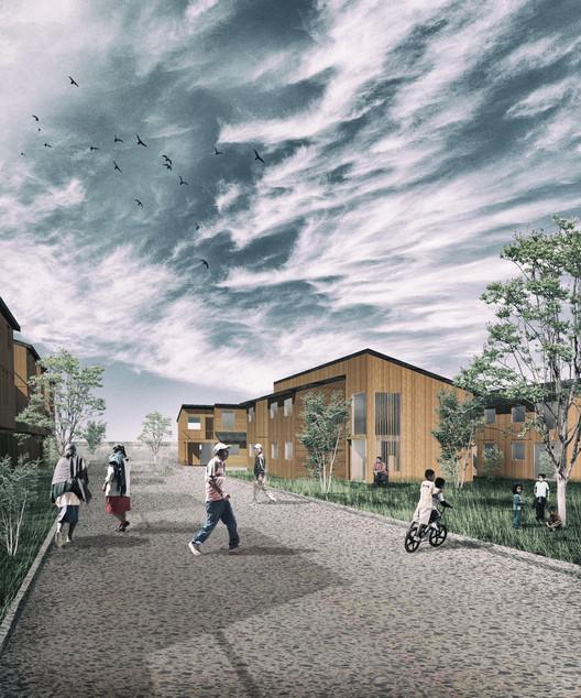 Conjunto Habitacional Mi Ruca. Image © Claudio Pizarro