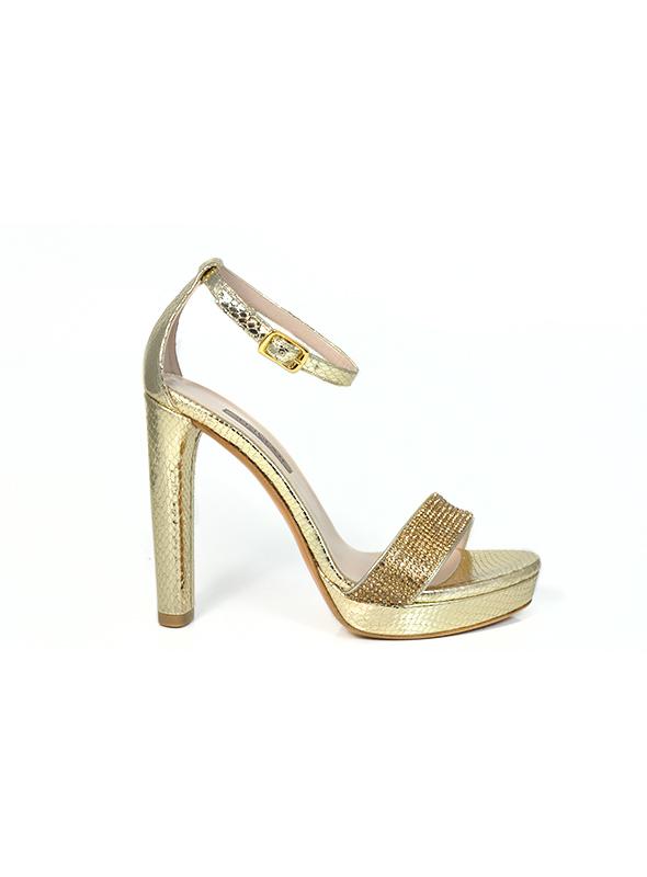 Sandalo oro con strass ALBANO | Sandali | 2132PITONEPLATINO