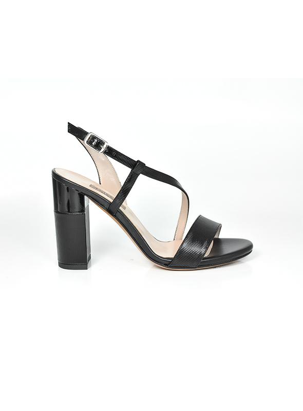 Sandalo nero lucido ALBANO | Sandali | 2158VERNICERIGONERO