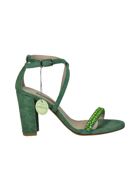Sandalo camoscio verde ALBANO | Sandali | 2159CAMOSCIOVERDEACQUA