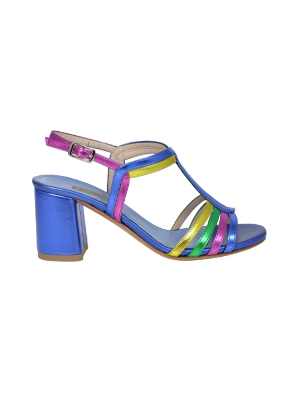 Sandalo multicolor bluette ALBANO | Sandali | 2192SOFTMETALBLUETTE