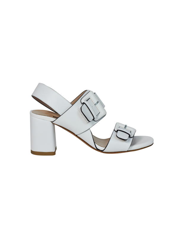 Sandalo bianco con fibbie ALBANO | Sandali | 2201KUTBIANCO