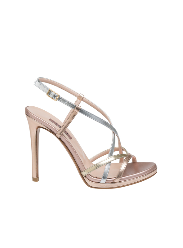 Sandalo tricolore ALBANO | Sandali | 4033METALRAME/PLATINO/ARG