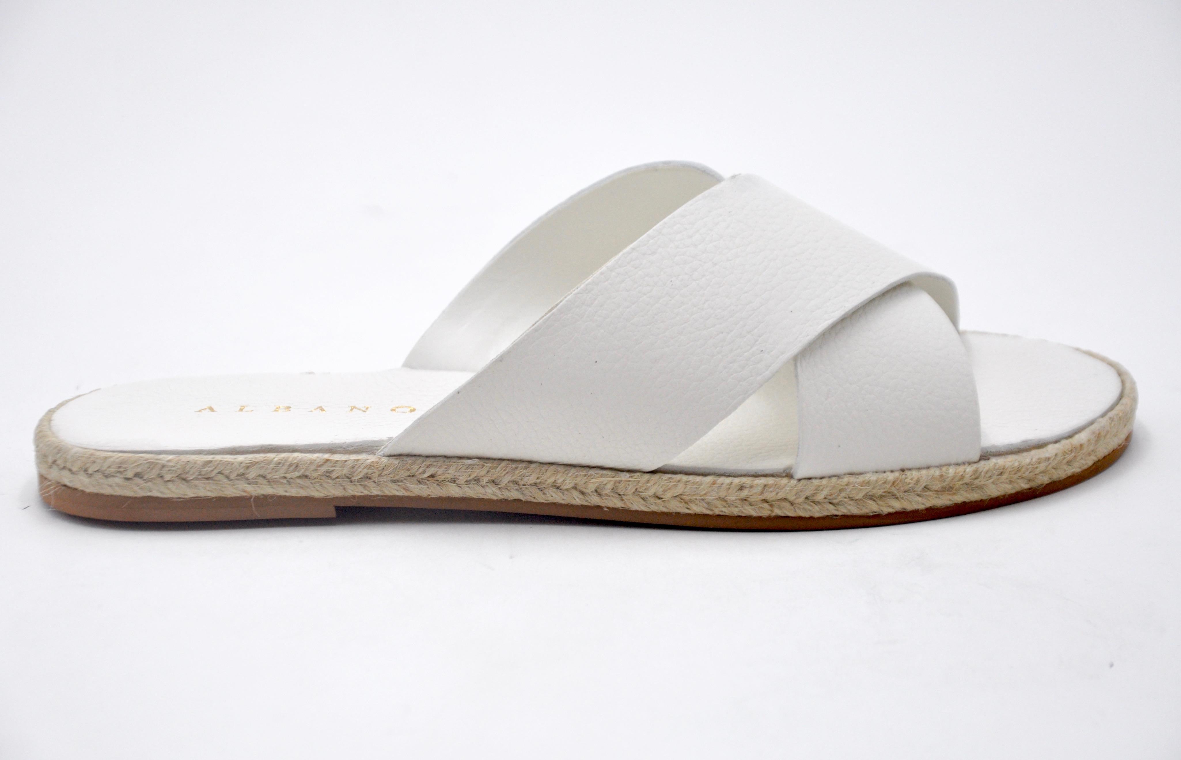 Ciabatta bianca ALBANO | Ciabatte | 75604WHITE
