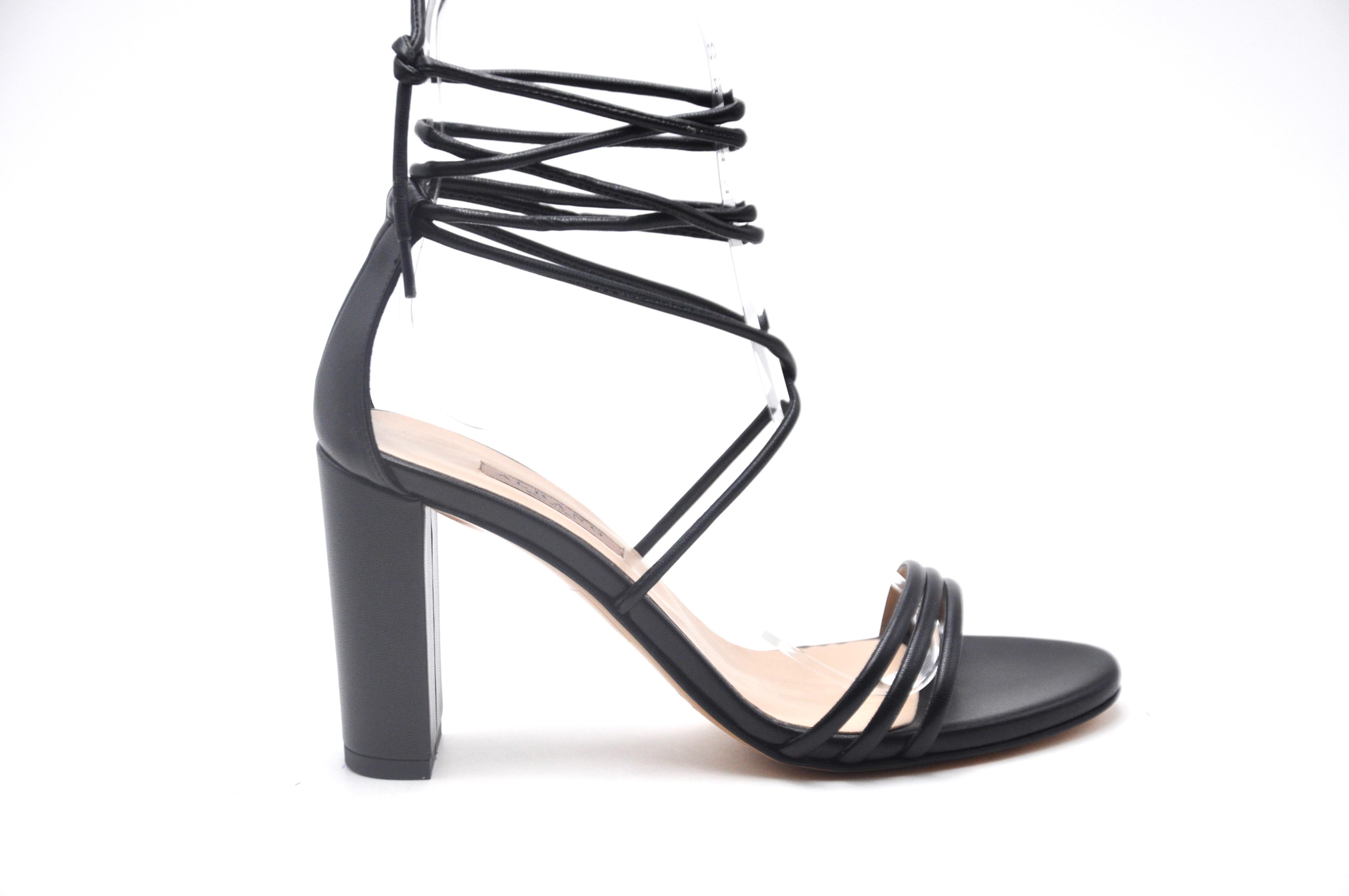 Sandalo nero con lacci ALBANO | Sandali | 8078SOFTNERO
