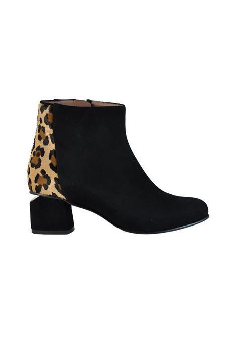 tronchetto nero e leopardato ALBANO | Tronchetti | 807350LAMCAMNERO