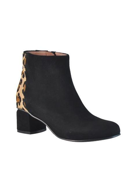 tronchetto nero e leopardato ALBANO | Tronchetti | 807350LAMCAMNEROLEOPARD