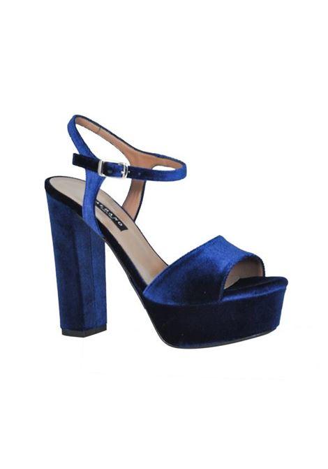 Sandalo in velluto ALBANO | Sandali | 8127VELBLU