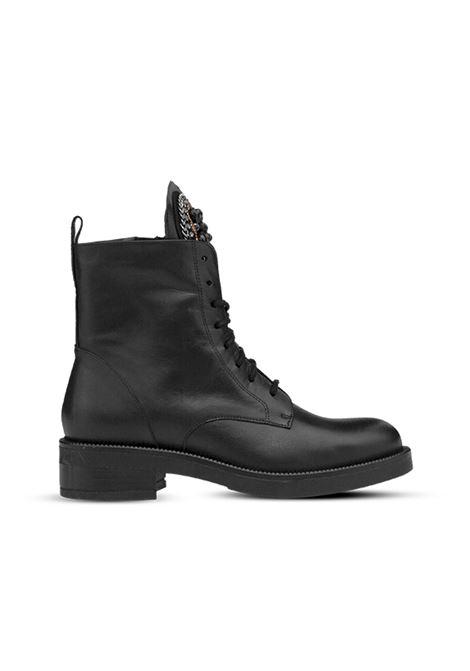 Anfibio nero con accessorio ALBANO | Anfibi | 1006VITELLONERO