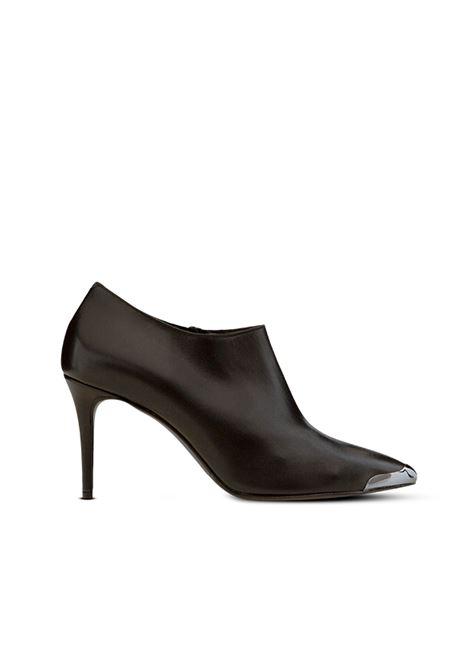 Tronchetto a scarpotto nero ALBANO | Tronchetti | 1046VITELLONERO