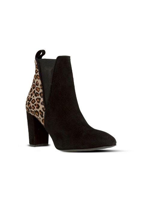Tronchetto nero e leopardato ALBANO | Tronchetti | 1055CAMOSCIONERO