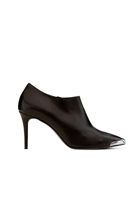 Tronchetto a scarpotto nero ALBANO | Tronchetti | 1174VITELLONERO