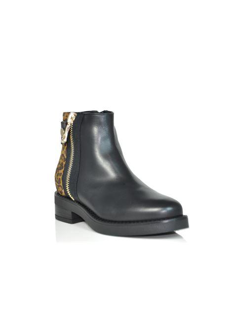 Tronchetto nero/leopard ALBANO | Boots | 0003VITELLONERO/LEOPARD