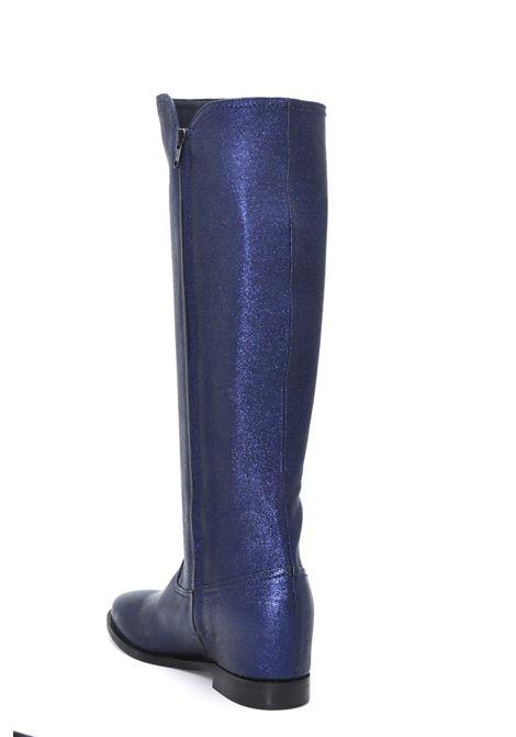 Stivale metallizzato blu ALBANO | Stivali | 0071METALBLU