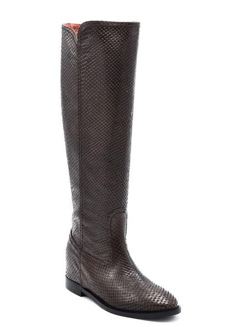 Stivale pitone marrone ALBANO | Stivali | 0071PITONEMARRONE