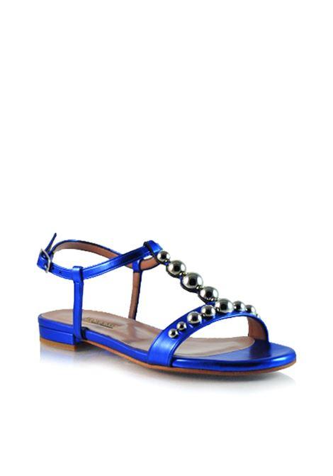 sandalo basso a T con borchie ALBANO | Sandali | 1028bluette