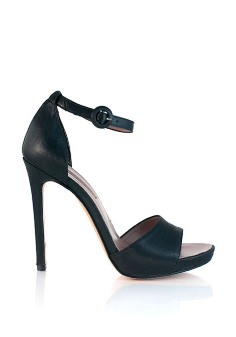 sandalo nero con tacco alto ALBANO | Sposa | 1248NERO