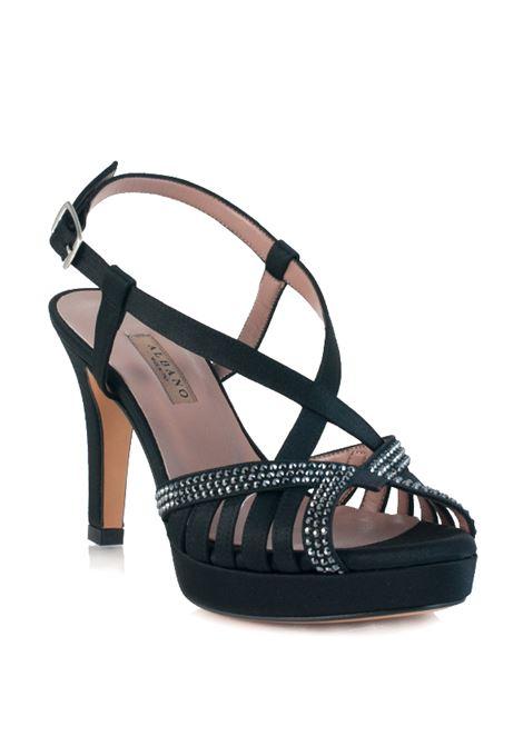 sandalo in raso nero ALBANO | Sandali | 2408NERO