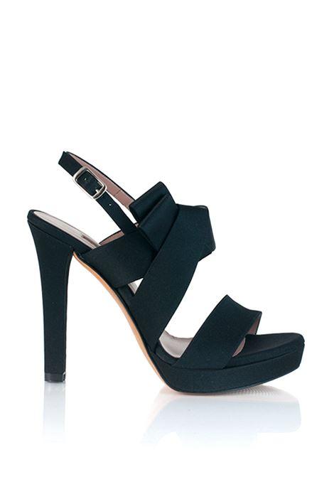 sandalo nero con fiocco ALBANO | Sandali | 2498NERO