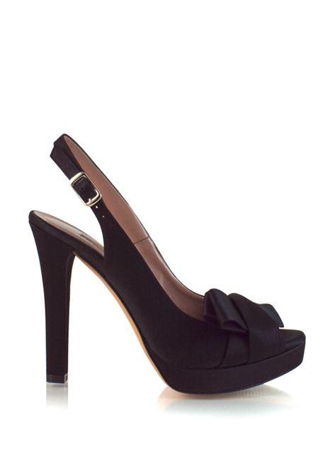 sandalo nero con fiocco ALBANO | Sandali | 2708NERO