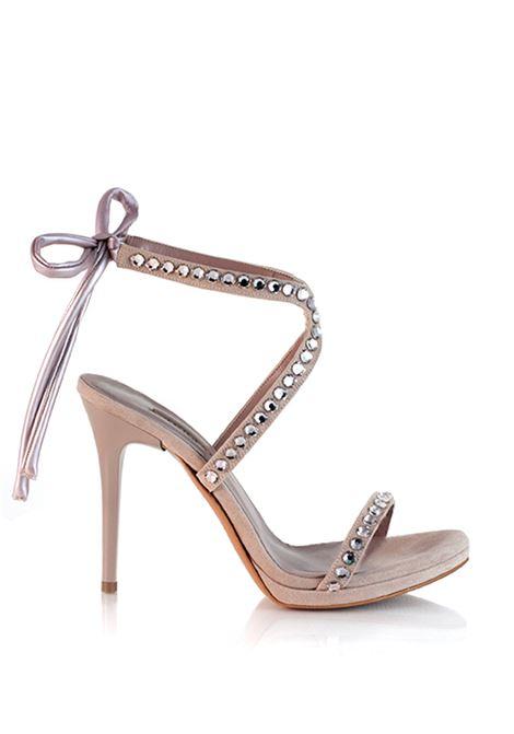 sandalo cipria con strass ALBANO | Sposa | 3918CIPRIA