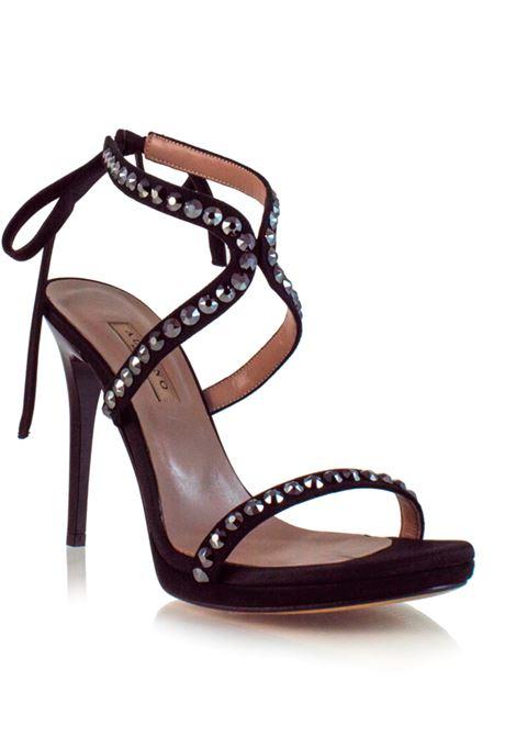 sandalo nero con strass ALBANO | Sposa | 3918NERO
