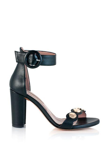 sandalo nero con cinturino alla caviglia ALBANO | Sandali | 3928NERO